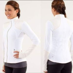 Lululemon Forme Jacket Brushed White Polar Cream